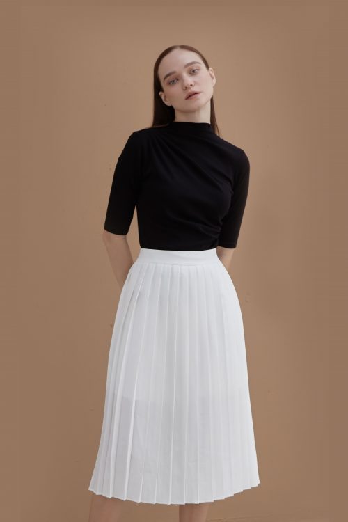 Daisy Pleated Midi Skirt