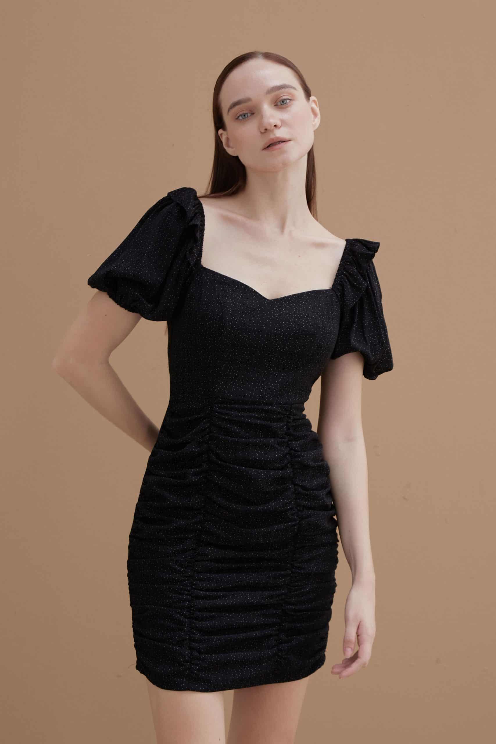 Ebony-Ruched-Dress
