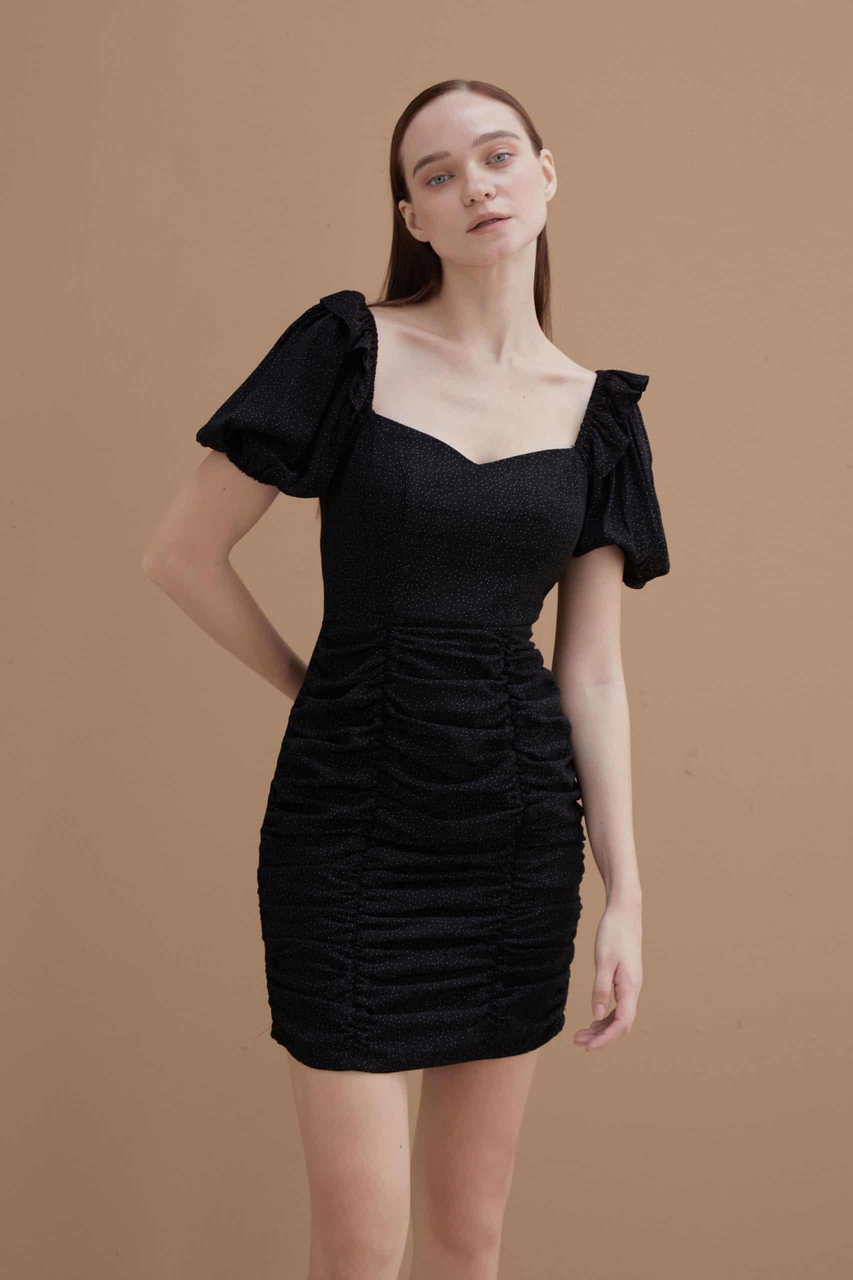 Ebony Ruched Dress