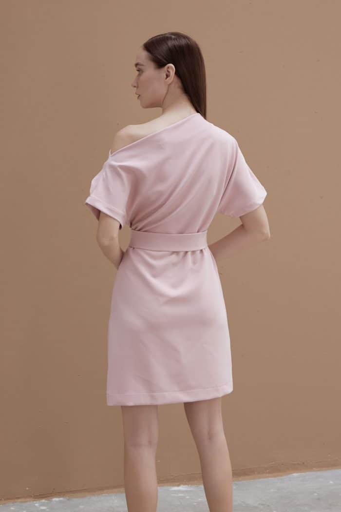 Pink-Wide-neck-Dress-4