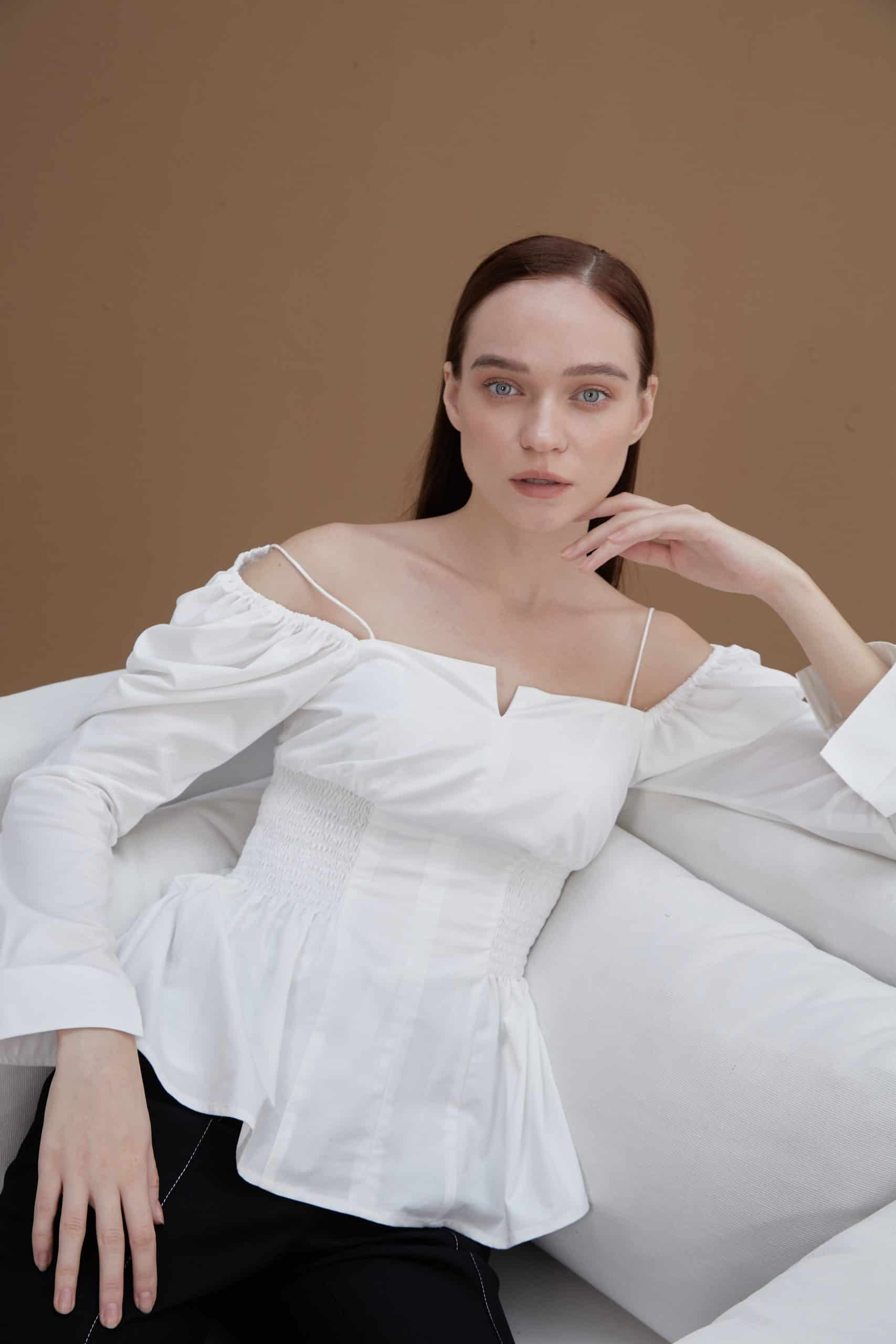 White Off-Shoulder To-3